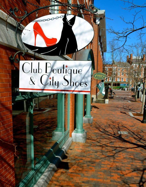 city shoes, club boutique, market square, storefront, pleasant street, stonewall kitchen